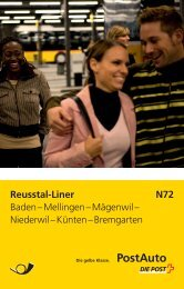 Reusstal-Liner N72 Baden – Mellingen – Mägenwil ... - Postauto