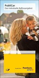Publicar, Das individuelle Rufbusangebot - Postauto