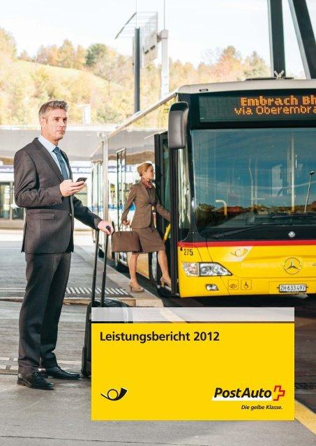 Leistungsbericht 2012 - PostBus