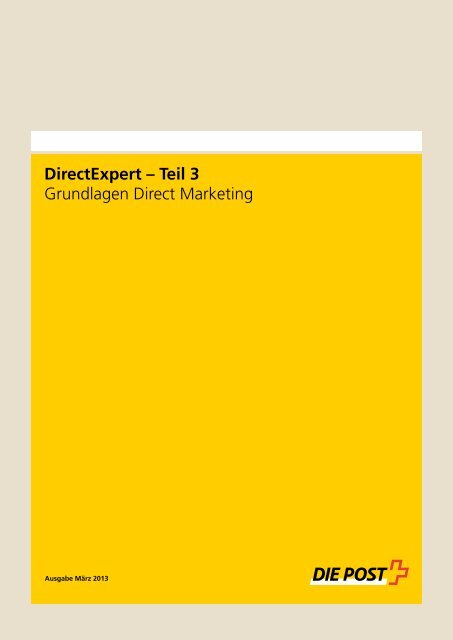 Grundlagen Direct Marketing - Postauto