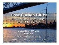 P t C b Citi Post Carbon Cities Post Carbon Cities
