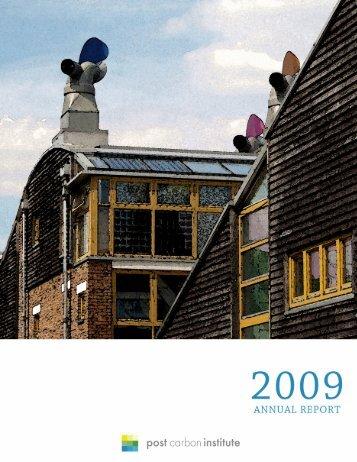 annual report - Post Carbon Institute
