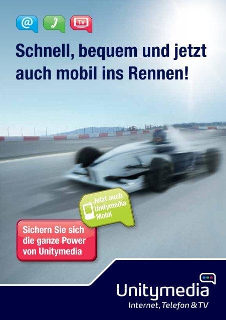 Schnell, bequem und jetzt auch mobil ins Rennen!