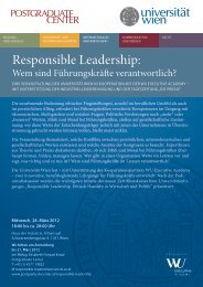 Responsible Leadership: - Postgraduate Center