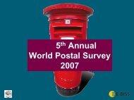 5 Annual 2007 World Postal Survey - Post-Expo