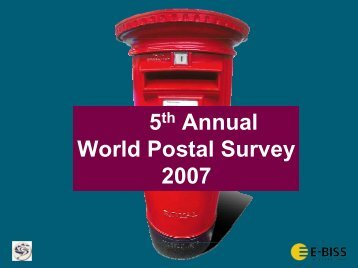 5 Annual 2007 World Postal Survey - Post-Expo