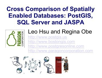Cross Comparison of Spatially Enabled Databases - PostGIS in Action