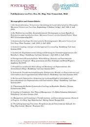 Publikationen von Priv.-Doz. Dr. Mag. Nino Tomaschek, MAS