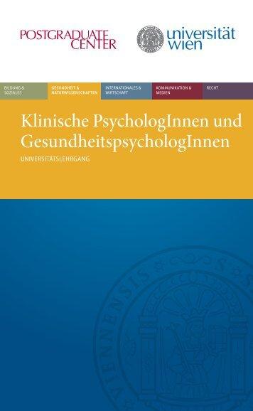 Klinische PsychologInnen und GesundheitspsychologInnen