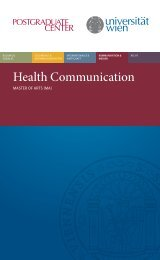 Health Communication - Postgraduate Center