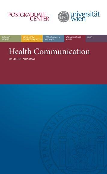Health Communication - Postgraduate Center