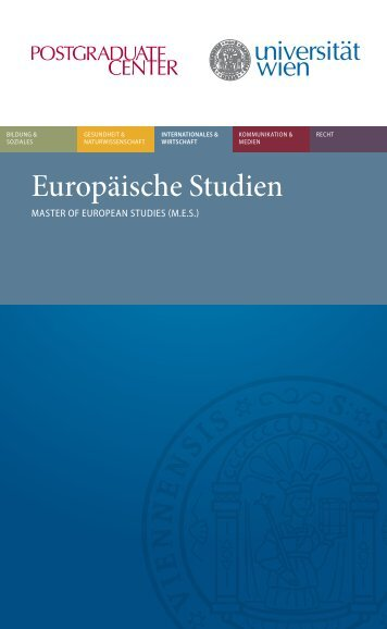 Europäische Studien - Postgraduate Center