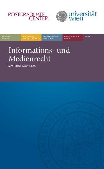 Informations- und Medienrecht - Postgraduate Center