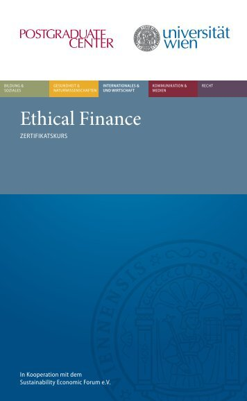 Ethical Finance - Postgraduate Center