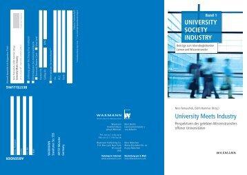 UNIVERSITY SOCIETY INDUSTRY - Postgraduate Center