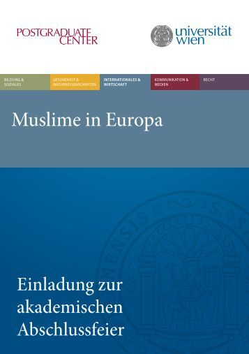 Muslime in Europa - Postgraduate Center