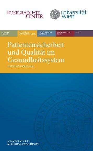 Folder Patientensicherheit.pdf, Seiten 1-6 - Postgraduate Center
