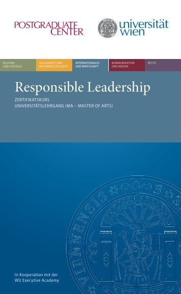 Responsible Leadership - Postgraduate Center