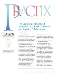 The Greening of Expedited Packaging: A U.S. Postal Service and ...