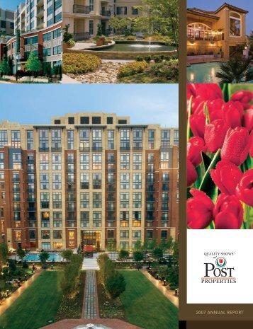 Post Properties 2007 Annual Report