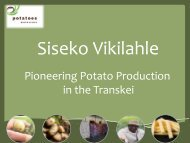 Pioneering Potato Production in the Transkei - Potatoes South Africa