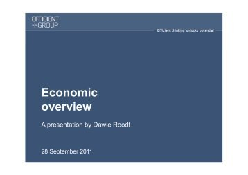 Economic overview - Potatoes South Africa