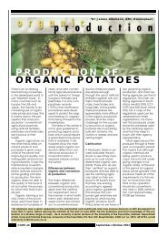 PRODUCTION OF ORGANIC POTATOES - Potatoes South Africa