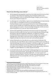 """Thesen für den Workshop """"Frauen inklusive"""" - Brigitte Pothmer, MdB"""