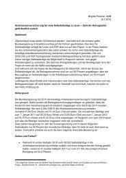Brigitte Pothmers Auswertung der Anfrage - Brigitte Pothmer, MdB