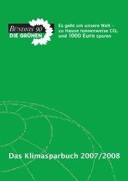 Das Klimasparbuch 2007/2008 - Brigitte Pothmer, MdB
