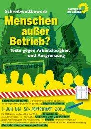 Flyer Schreibwettbewerb neu - Brigitte Pothmer, MdB