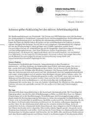 Arbeitsmarktpolitisches Papier von Brigitte Pothmer und Gabriele ...
