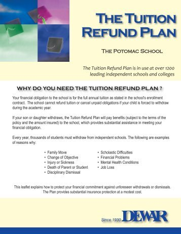The Tuition Refund Plan - Potomac School
