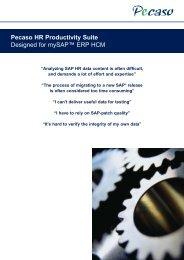 Pecaso HR Productivity Suite Designed for mySAP ... - Adfahrer