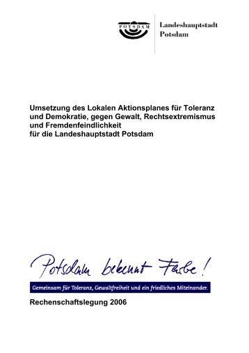 Rechenschaftslegung 2006 - Potsdam bekennt Farbe