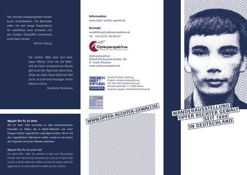 Flyer der Ausstellung (0,8 MB) - Potsdam bekennt Farbe