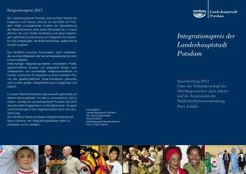 Integrationspreis der Landeshauptstadt Potsdam - Potsdam bekennt ...