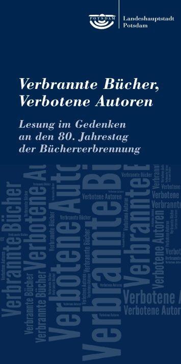 Verbrannte Bücher, Verbotene Autoren - Potsdam bekennt Farbe