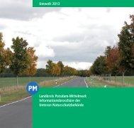 Naturschutzbroschüre 2013 - Landkreis Potsdam-Mittelmark