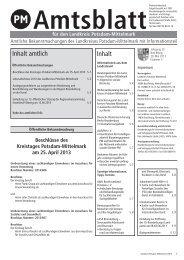 Mai 2013 - Landkreis Potsdam-Mittelmark