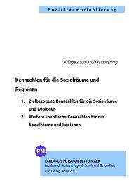 Anlage 2 zum Sozialraumvertrag - Landkreis Potsdam-Mittelmark