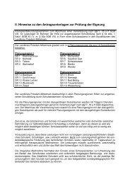 II. Hinweise zu den Antragsunterlagen zur Prüfung der Eignung gem ...