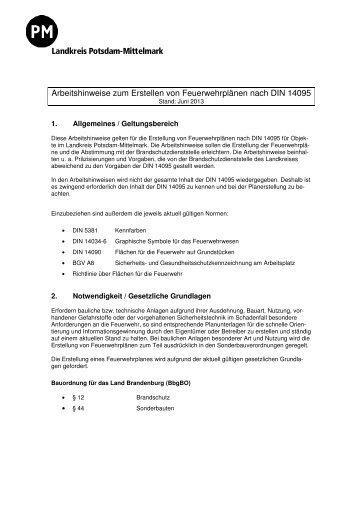 Arbeitshinweise zum Erstellen von Feuerwehrplänen - Landkreis ...