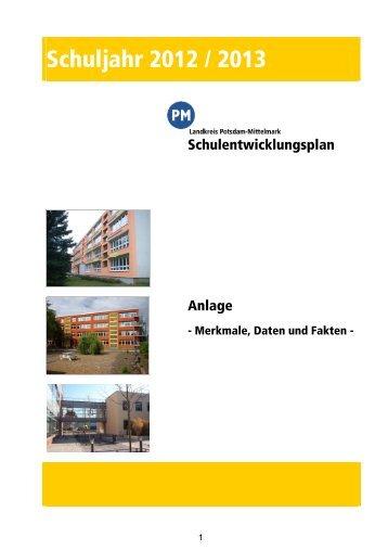 """Anlage """"Merkmale, Daten und Fakten"""" 2012/2013 - Landkreis ..."""