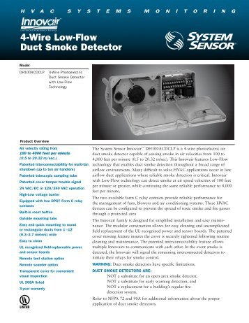 4-Wire Low-Flow Duct Smoke Detector - Pottorff