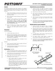 extruded aluminum stationary louvers installation instructions - Pottorff