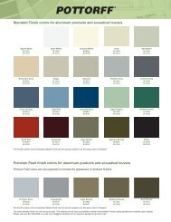 Standard Finish colors for aluminum products and ... - Pottorff