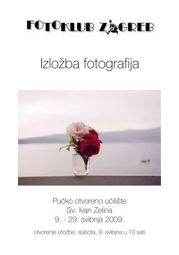 katalogu izložbe - POU Zelina