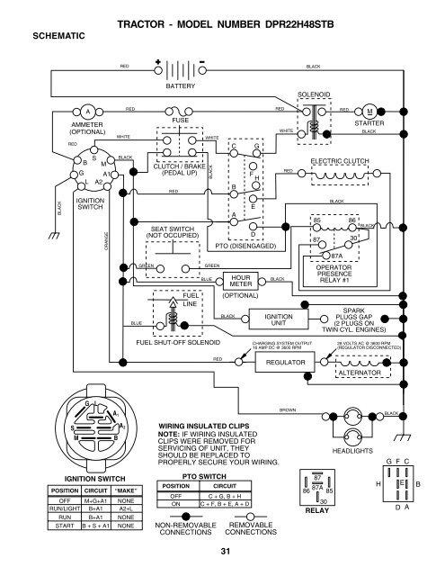 white tractor lt 13 wiring diagram ipl  dpr22h48stb  tractors ride mowers poulan  dpr22h48stb  tractors ride mowers poulan