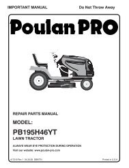 IPL, PB195H46YT, 2008-04, TRACTORS/RIDE MOWERS ... - Poulan